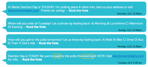 Using Voter File Texting to Get Out the Vote - Stones' Phones